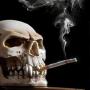 icon Smoking Skull Live Wallpaper